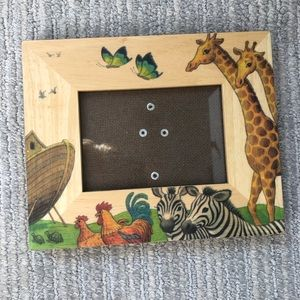 REDUCED❣️ Vintage 1995 Noah's Ark Wood and Painted picture frame
